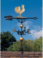 "46"" Rooster Weathervane - Gold-Bronze"