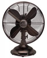 "Hunter Home Comfort (90406) Hunter 12"" RETRO Fan with Oil Rubbed Bronze Finish"