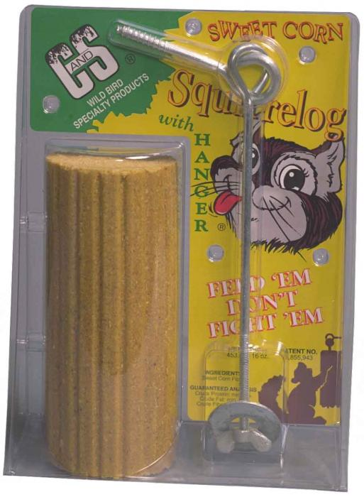 C & S Products Squirrelog with Hanger