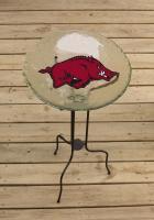 Evergreen Enterprises Arkansas Razorbacks Glass Birdbath