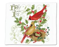 Alice's Cottage Holly and Ivy Single Flour Sack Towel