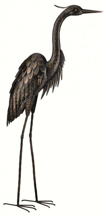 Regal Art & Gift Bronze Heron - 45 inch