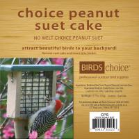 Bird's Choice Choice Peanut Suet Cake - 11.75 oz