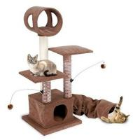 Activity Lounging Tower with Tunnel and Hide Away