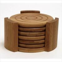 Lipper Bamboo 7pc Coaster Set