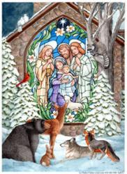 Toland Winter Nativity Garden Flag