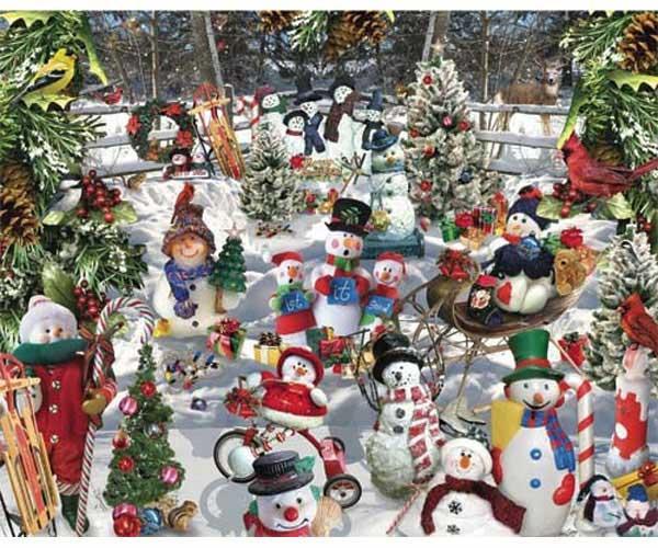 White Mountain Puzzles Snowmen