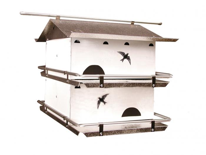 Birds Choice Waters Edge 2 Floor-4 Room Suites Purple Martin House with Crescent Holes