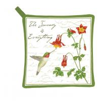 Alice's Cottage Hummingbird Potholder