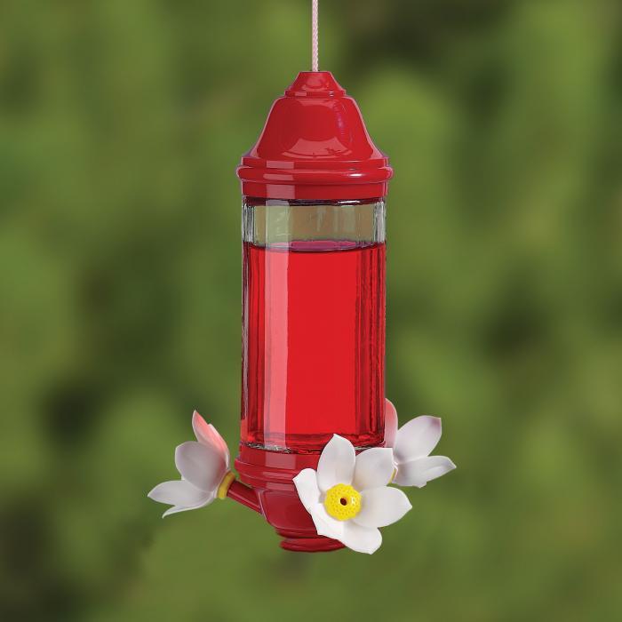 Artline 8 Ounce Crystal Lantern Hummingbird Bird Feeder