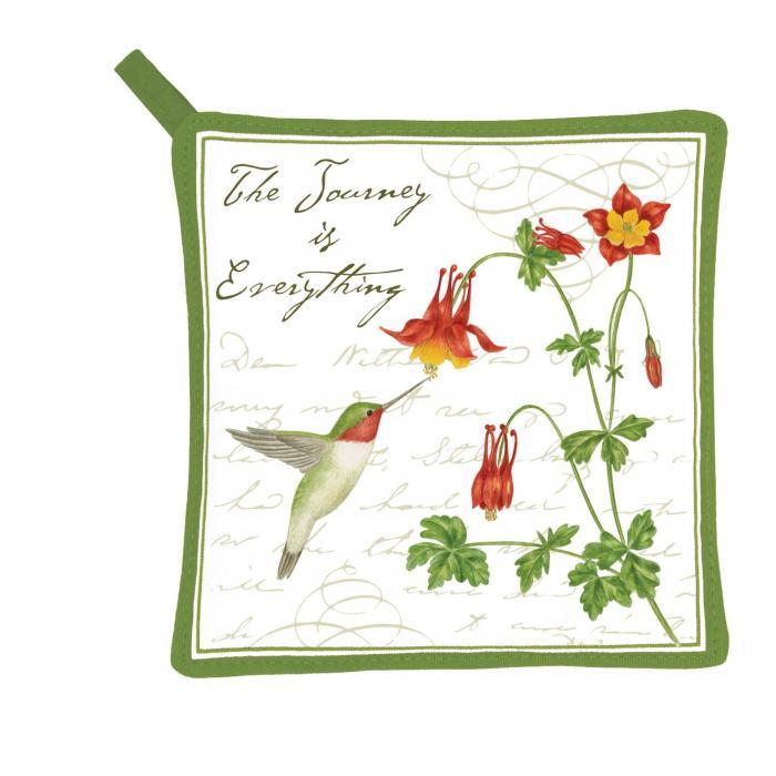 Alice's Cottage Hummingbird Potholder