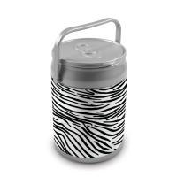 Picnic Time 9 Quart Capacity Can Cooler - Zebra Print Can