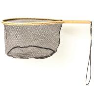 Eagle Claw Wood Trout Net w/Rubberized Netting