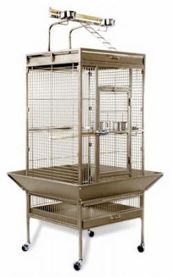Medium Wrought Iron Select Bird Cage - Coco Brown