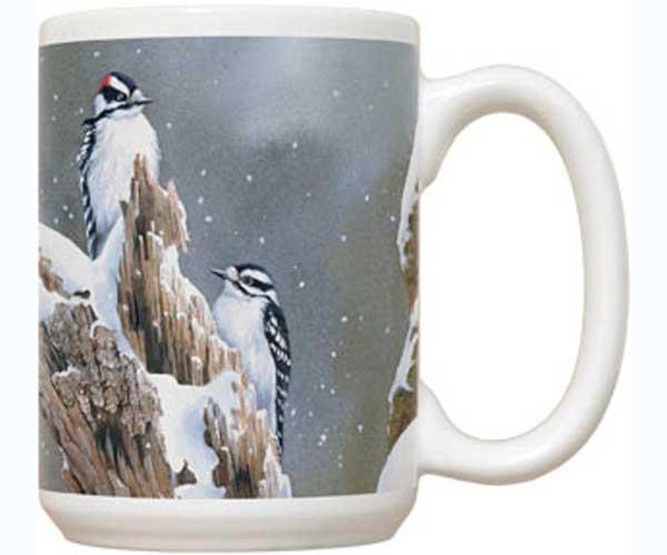 Fiddler's Elbow Downy Woodpecker 15 oz Mug