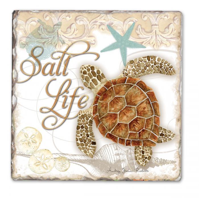 Counter Art Salt Life Single Tumbled Tile Coaster