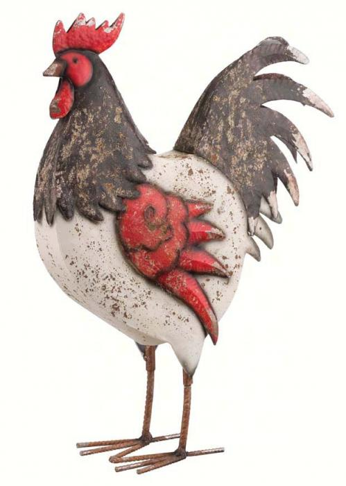 Regal Art & Gift Country Rooster 18 inch Black & White