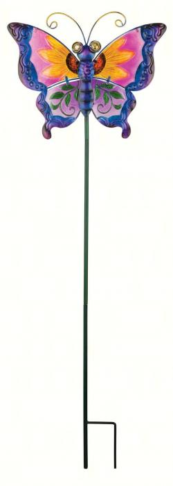 Regal Art & Gift Floral Butterfly Stake, Purple