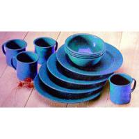 Coleman Dining Set, Enamel, Blue, 12 Piece Set, Serves 4