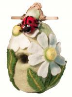 DZI Handmade Designs Ladybug Felt Birdhouse