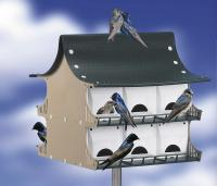 S & K 12 Family Purple Martin House, Green & Tan