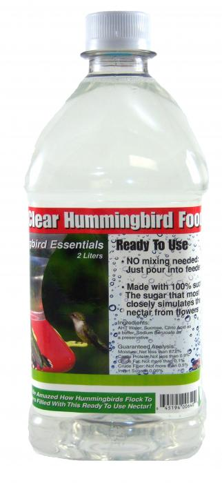 Songbird Essentials 64 oz. Clear RTU Nectar
