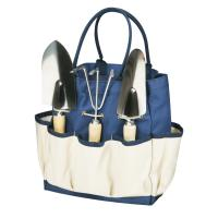 Picnic Time Large Garden Tote with Tools, Navy