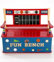 Levels of Discovery All Star Sports Toy Box Bench