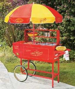 Nostalgia Electrics HDC-701 Carnival Hot Dog Cart w/Umbrella