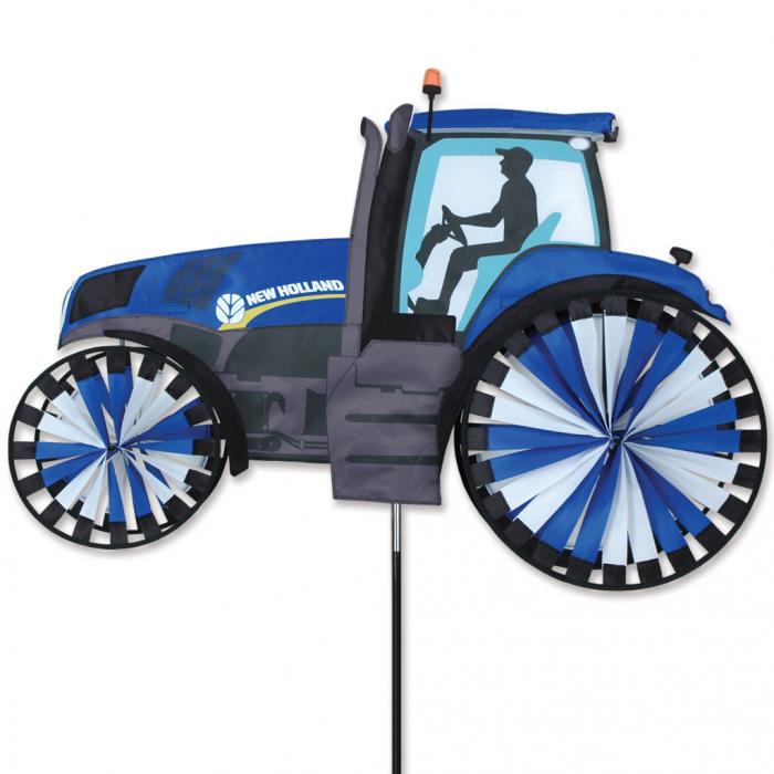 Premier designs new holland tractor spinner 40 inch for Garden spinners premier designs