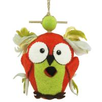 DZI Handmade Designs Crazy Owl Felt Birdhouse
