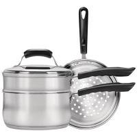 Range Kleen CW2011 Basics 3-Quart Saucepan with Double Boiler/Steamer Insert Set