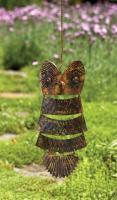 Ancient Graffiti Owl Antique Brass Hanging