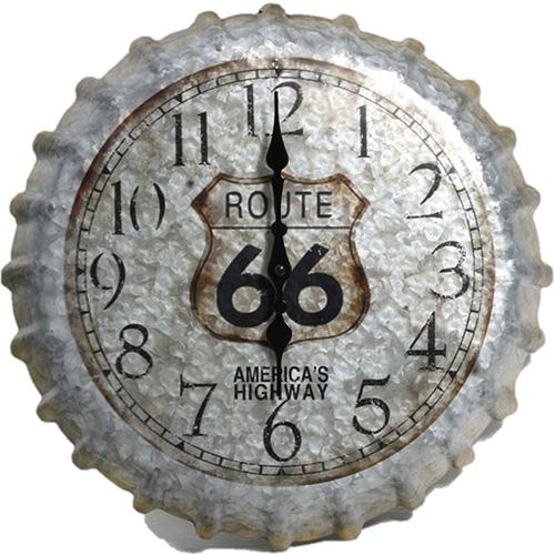 "Springfield 14 Route 66 Bottlecap Clock""""4"" Route 66 Bottlecap Clo"""""" Route 66 Bottlecap Cl"""" Route 66 Bottlecap Cl"""