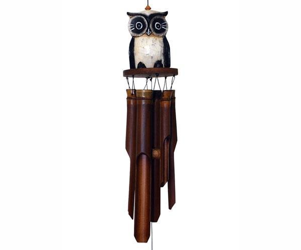 Cohasset Imports Oscar Owl Tan Bamboo Windchime