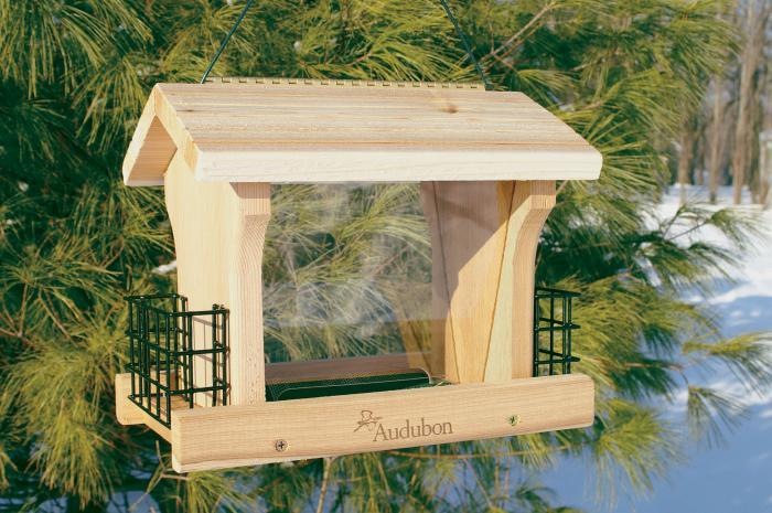 Woodlink Audubon Series Large Ranch Bird Feeder With Suet Screen