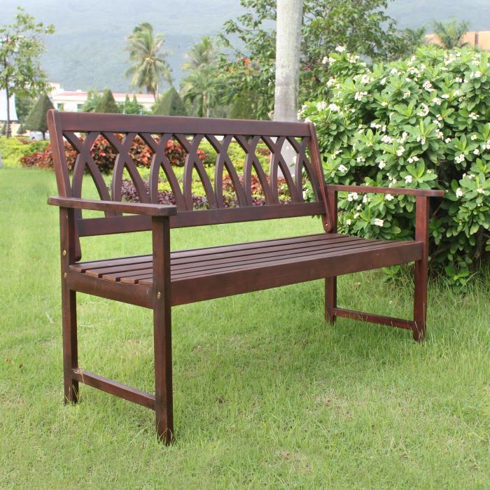 Criss Cross Garden Bench