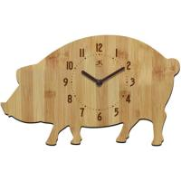 Infinity Instruments Chef Collection Butcher Block Wall Clock, Pork Chop