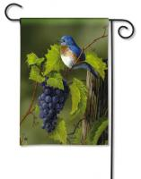 Magnet Works Vineyard Bluebird Garden Flag