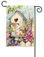 Magnet Works Cottage Birdhouse Garden Flag