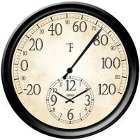 Taylor 91575 14 Decorative Thermometer with Clock