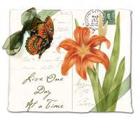 Alice's Cottage Orange Butterfly Flour Sack Towel (set of 2)