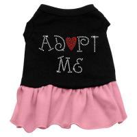 Adopt Me Rhinestone Dog Dress - Pink XL
