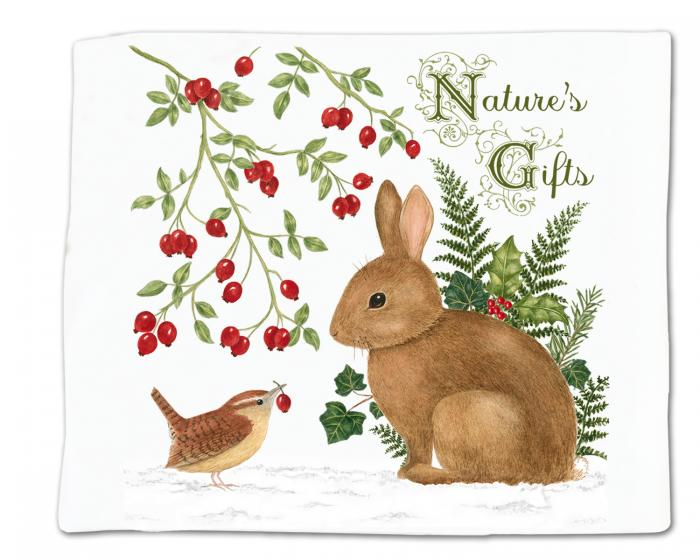 Alice's Cottage Winter Bunny Single Flour Sack Towel