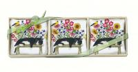 Alice's Cottage Cat on Bench Gift Boxed Lavendar Sachets (3 pcs)