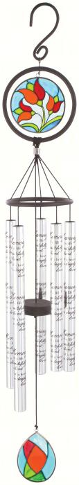 Carson In Memory 35 inch Stained Glass Sonnet Windchime