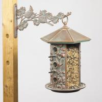 Whitehall Dogwood Bird Feeder - Copper Verdi