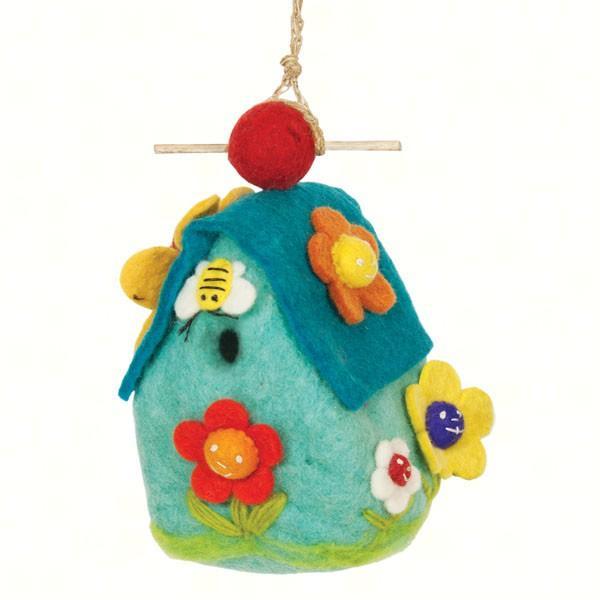 DZI Handmade Designs Flower House Felt Birdhouse