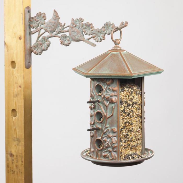 Whitehall Dogwood Bird Feeder - Copper Verdi