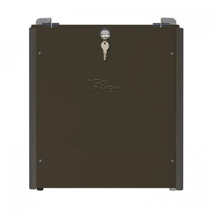 PlexiDor Performance Pet Doors Medium Sliding Track Security Plate, Bronze